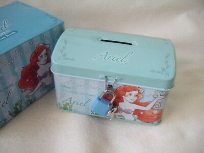 Disney the Little Mermaid Ariel tin can bank NEW