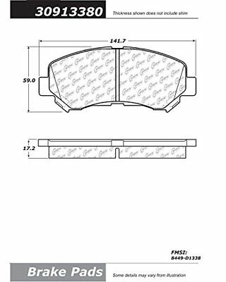 StopTech 309.13380 Street Performance Front Brake Pad