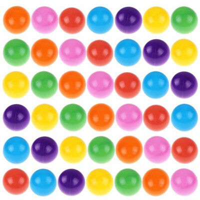 100× Multi-Color Kid Plastic Soft Play Balls Toy for Ball Pit Swim Pit Ball Pool