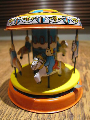 Roundabout reproduction tin toy lever action tinplate vintage style