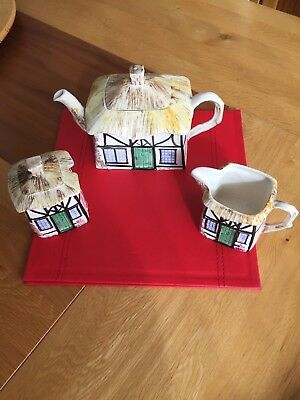 Sylvac cottage Teapot set