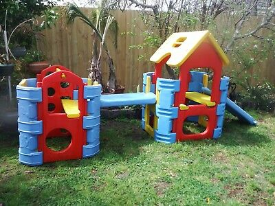 2 x Pacific Creations Conecting Climbing Frames Cubby House Good Condition