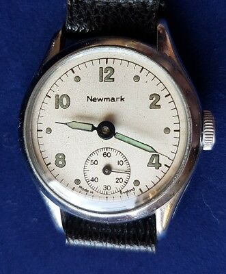 A Vintage Newmark Mechanical Wristwatch. Military Style. Ideal WW2 Re-enactment