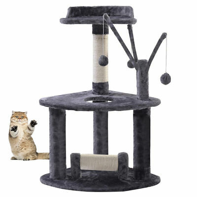 Cat Scratching Tree Post Scratcher Activity Toy Pet Playing Centre Climbing Bed