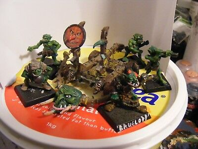 Warhammer orc man mangler oldhammer catapult 3rd oop lead 80s with crew siege