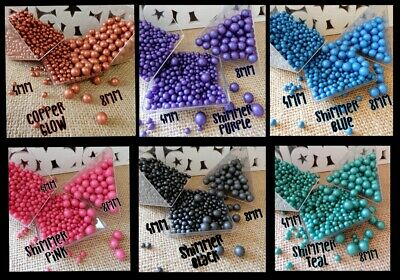 54g to 18g  SUGAR PEARL ROSE GOLD PURPLE BLACK WHITE BLUE RED CUPCAKE SPRINKLES