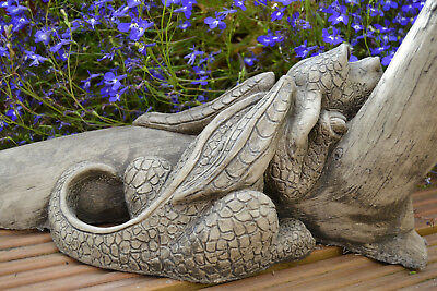 Fin the Dragon Stone Garden Ornament-Caterpillar-Sculpture-Statue-Gift