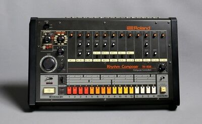 Roland TR-808 Drum Machine  + MIDI with velocity (no mod on the layout of tr808)