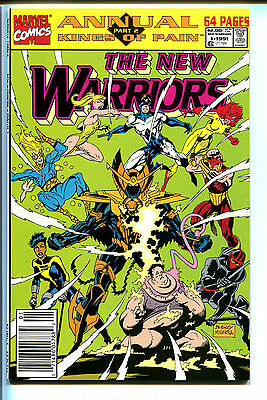 THE NEW WARRIORS, Issue 1991 Annual #1, (Marvel 1990), NM, X-Force appearance