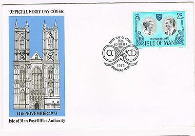 Isle Of Man 1973 - Fdc Royalty #3196