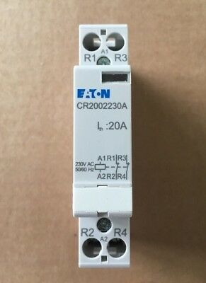 Eaton CR2002230A 20A 2Pole Contactor,230Vac Coil,2NC Normally Closed