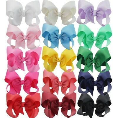 New Lovely Big Hair Bow Clips Ribbon Boutique For Baby Girls Christmas Gift