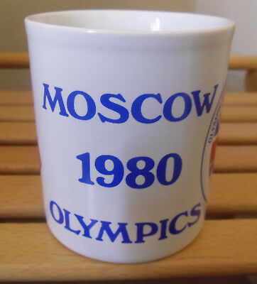 Moscow 1980 Olympic Games Mug Support Great Britain