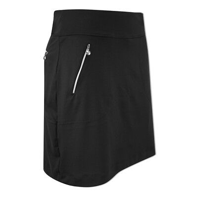 Daily Sports Pull-On Skort with Flattering, A-Line Fit in Black