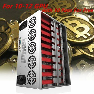 Crypto Coin Open Air Mining Frame Rig Graphic Case For 12 GPU ETH/BTC Lot #L