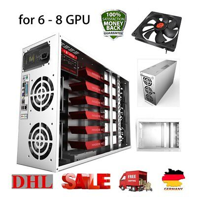 Crypto Coin Open Air Mining Frame Rig Graphic Case For 8 GPU BTC ETH Bitcoin L#L