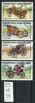 266014 Comoro Islands 1984 year used stamps set CARS