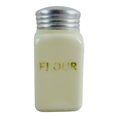 Appealing Custard Glass Vintage Flour Shaker