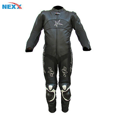 BLACK  Motorbike  Leather Suit Motorcycle Leather Suit Racing suit Riding Suit