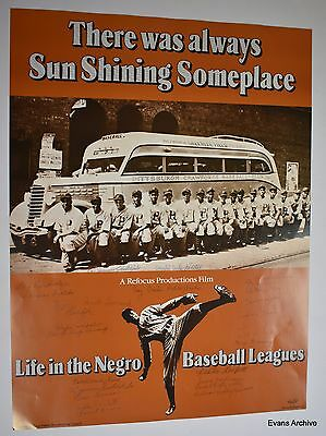 "1980 ""Life in the Negro Baseball Leagues"" Limited Edition Signed Poster (44/50)"