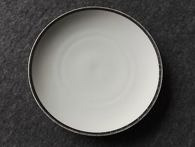THOMAS CHINA  7'' side plates x TWO - Medallion Platinum - wide silver band
