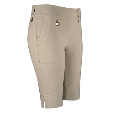 Daily Sports Pull-On Shorts with Stretch Finish in Light Beige