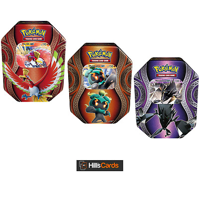 Pokemon Cards: All 3 2017 Fall Collectors Tins: Ho-Oh, Marshadow + Necrozma GX