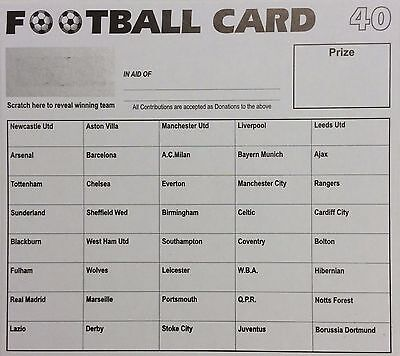40 football team fundraising scratch cards - 50 pack