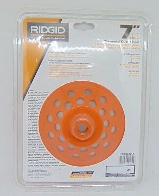 "Ridgid 7"" Diamond Cup Wheel 12 Segments Orange"