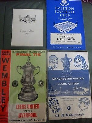 Leeds United  V Liverpool F.a Cup Final1965 Programme Semi- Plus Early Rounds