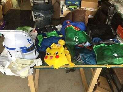 Huge Lot Of 13 Kids Costumes Size Medium, Large, X-Large! Plus 4 Masks!