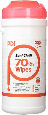 6 x Sani-Cloth 70% Alcohol Wipes (Canister of 200) 1200 Wipes in Total