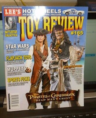 RARE COVER - LEE'S TOY REVIEW JULY 2006 #165 - PIRATES of the CARIBBEAN - DEPP++