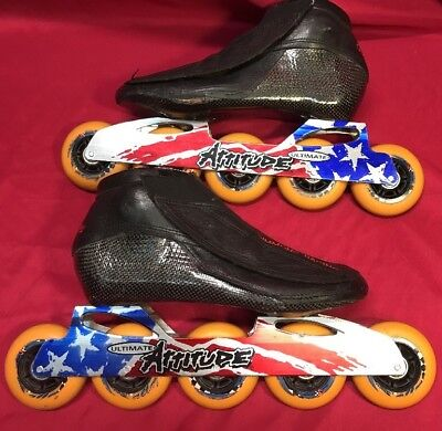 Simmons Racing Inline Skates With Ultimate Attitude 5 Wheel Frames