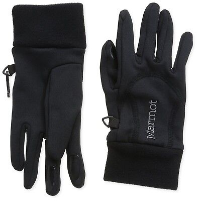 (X-Small, Black) - Marmot Women's Power Stretch Gloves. Free Shipping