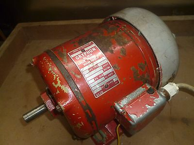 Electric motor by Gryphon: 240v 0.5HP 2850 rpm was on version of Coronet Minor.