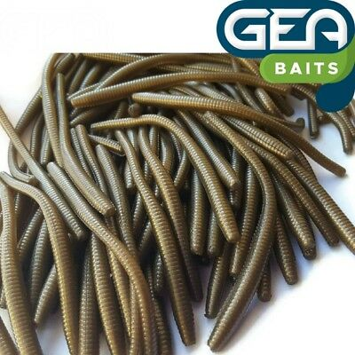 Perl Brown Worm Earthworm Sea Fishing Soft Lures Tackle Baits 8cmSCENT
