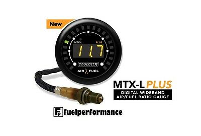 Innovate MTX-L PLUS Air/Fuel Ratio Wideband Gauge AFR O2 Sensor LSU 4.9 (3FT)