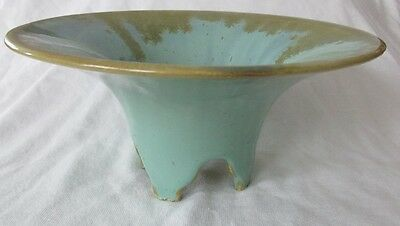 Fulper Pottery 4-Footed Bowl Flemington Green