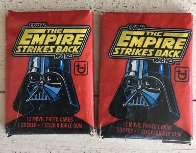 (2) 1980 Topps Star Wars Empire Strikes Back Series 1 Wax Pack