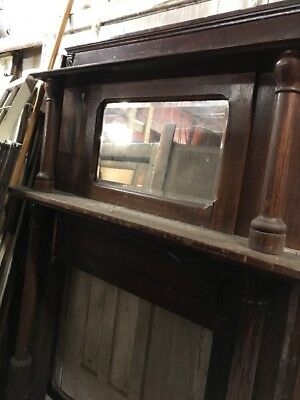 Cm 110 Antique Oak Fireplace Mantle Needs Work