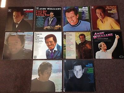 Andy Williams Great 10 X Album Collection Nice Condition Vinyl Lps Freepostage