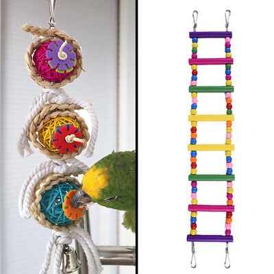 Hanging Ball Parrot Toy   All Bird Sizes   Climb Natural Safe Chew Foot Eclectus