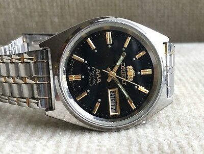 ORIENT Crystal - L 469711 - Automatic Day/Date Herrenuhr 36 mm Japan ca. 1978