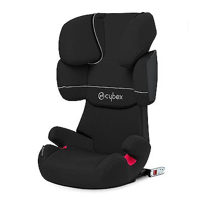 CYBEX Solution X-Fix, Toddler Car Seat Group 2/3, Pure Black - Black
