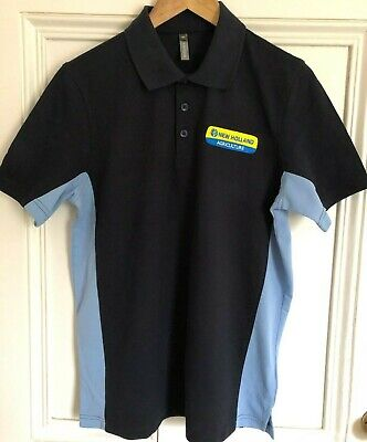 New Holland Tractor Embroidered Two Tone Heavyweight Polo Shirt - Small to 2XL