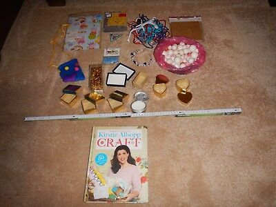 Bundle Of Craft Items,jewellery boxes,wrapping paper,foam balls,k alsopp book