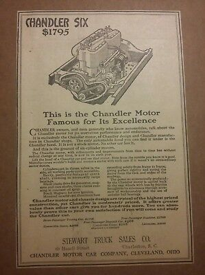1919 Chandler Six Motor  $1795 Ad Automobile