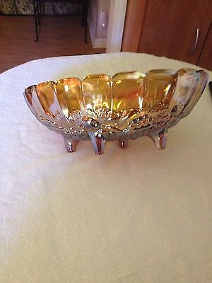 Vintage Indiana, Carnival Glass, Footed Bowl, Centerpiece