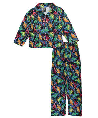 "Quad Seven Big Boys' ""Ancient Reptiles"" 2-Piece Pajamas (Sizes 8 - 20)"
